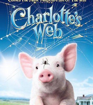 HTML-старт для детей. Паутина Шарлотты, пауки и футером по хэдеру.