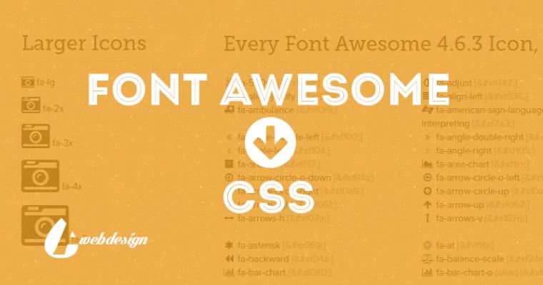 Как вывести иконки Font Awesome через CSS