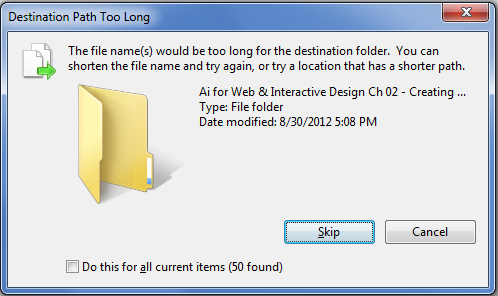Can't delete or rename file with too long name